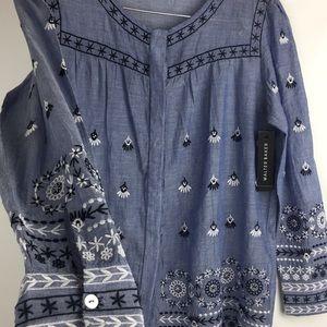 🆕 Walter Baker sheer button down blouse